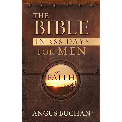 The Bible In 366 Days For Men Of Faith Devotional (Paperback With Flaps)