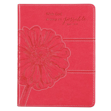 With God All Things Are Possible Pink (LuxLeather Journal)
