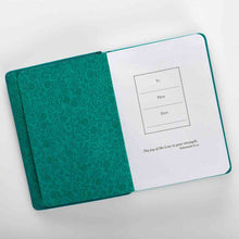 Load image into Gallery viewer, She Is Clothed With Strength And Dignity Terquoise (Handy-Sized Faux Leather Journal)