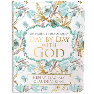 Day By Day With God, One-Minute Devotions (LuxLeather)