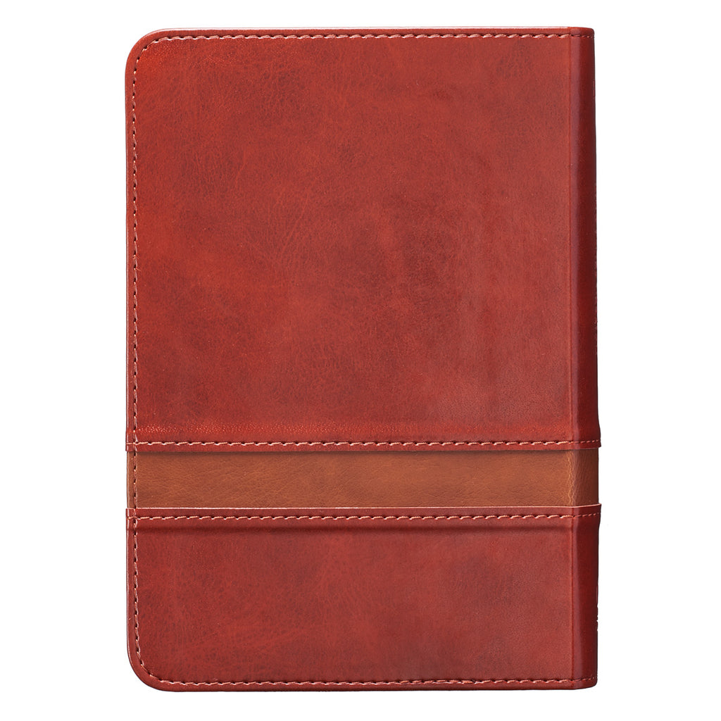 KJV Large Print Compact Brown Red Letters (LuxLeather)