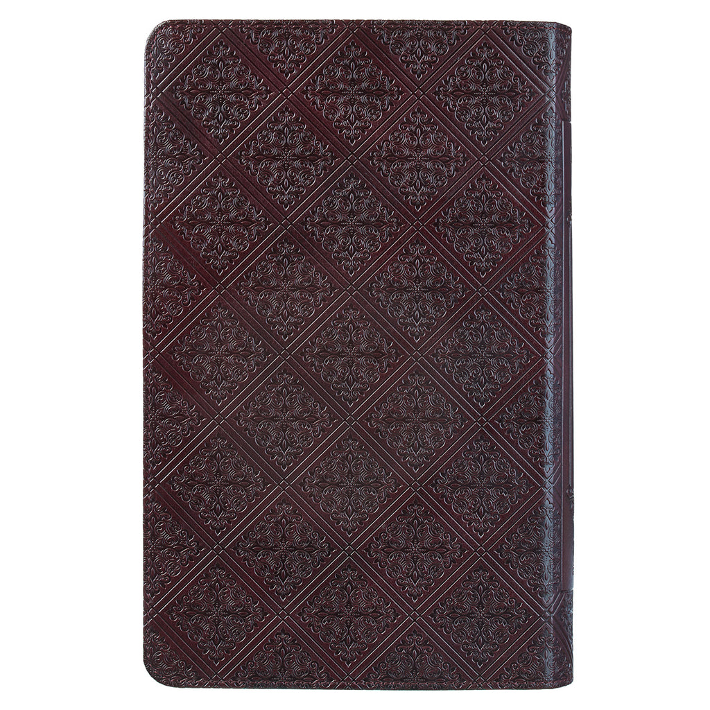 KJV Giant Print Standard Brown Red Letters With Thumb Indexed (Faux Leather)