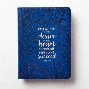 Psalm 20:4 May He Give You The Desire Of Your Heart (LuxLeather Journal)