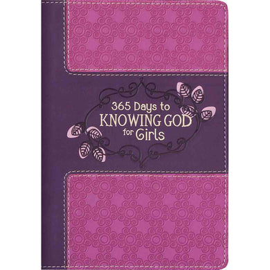 365 Days To Knowing God For Girls (LuxLeather)