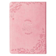 Load image into Gallery viewer, Jeremiah 29:11 I Know the Plans I Have For You Pink (Faux Leather Journal)