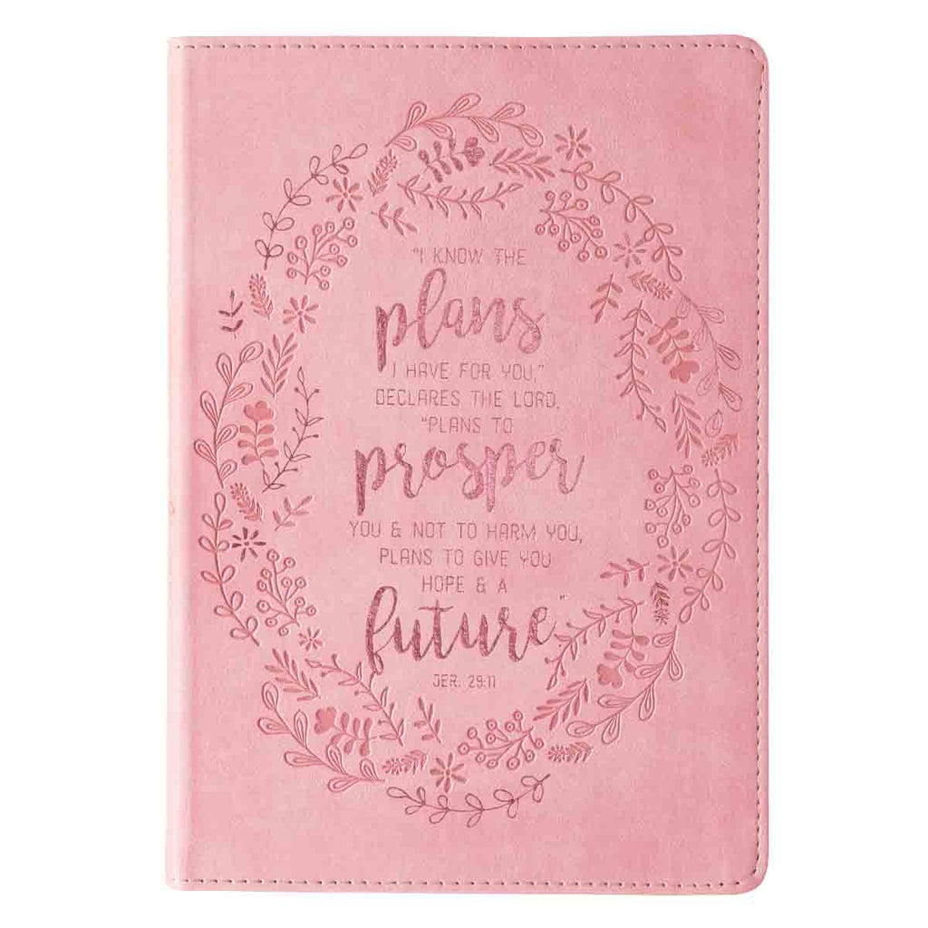 Jeremiah 29:11 I Know the Plans I Have For You Pink (Faux Leather Journal)