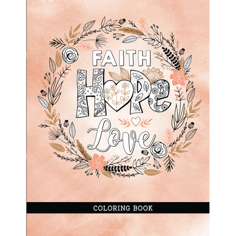 Load image into Gallery viewer, Faith Hope Love Coloring Book (Paperback)
