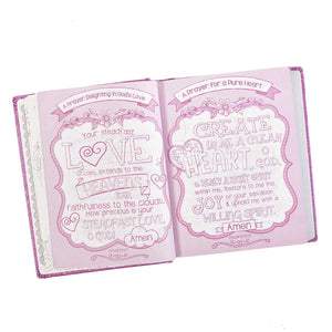 ESV My Creative Bible For Girls Purple Glitter (Hardcover)
