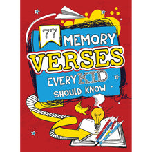 Load image into Gallery viewer, 77 Memory Verses Every Kid Should Know (Paperback)