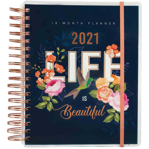 18-Month Planner For Women 2021 Life Is Beautiful (Spiralbound)