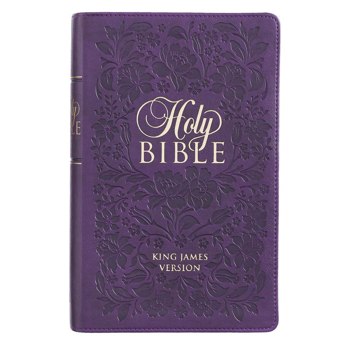 KJV Giant Print With Thumb Indexed Purple (LuxLeather)