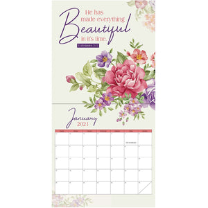 Bloom Where You Are Planted (Large Calendar 2021)