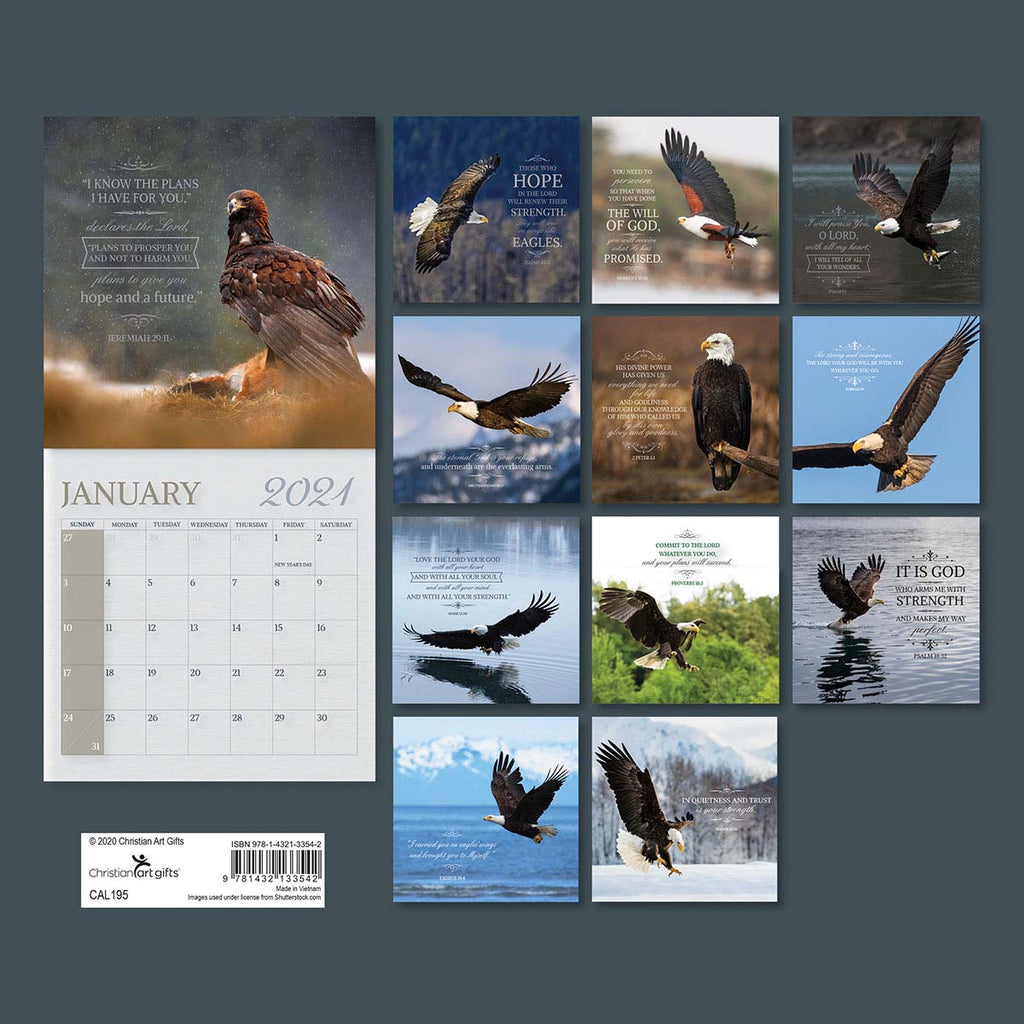 On The Wings Of Eagles (Large Calendar 2021)