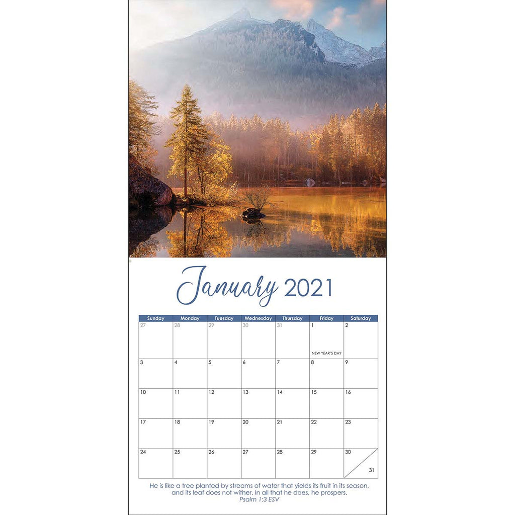 Rooted In Faith (Large Calendar 2021)