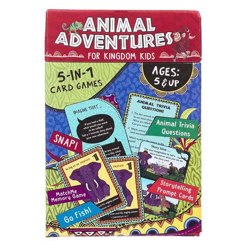 Animal Adventures For Kingdom Kids (Game Cards)