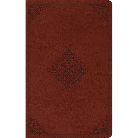ESV Thinline Reference Bible Tan / Ornament (Imitation Leather)