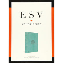 Load image into Gallery viewer, ESV Study Bible Personal Size Turquoise / Emblem (Imitation Leather)