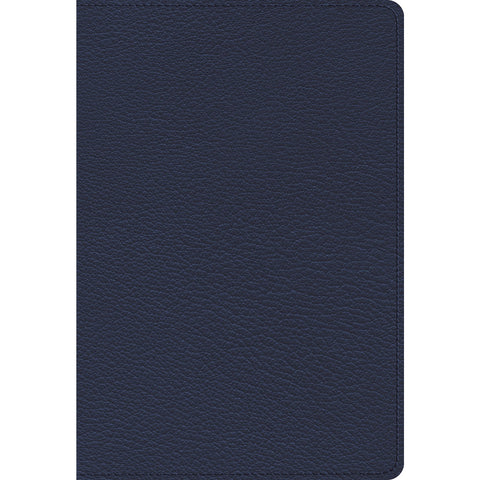 ESV Heirloom Single Column Personal Size Bible Blue (Genuine Leather)
