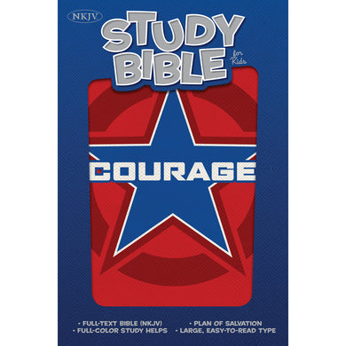 NKJV Illustrated Study Bible For Kids Courage (Imitation Leather)