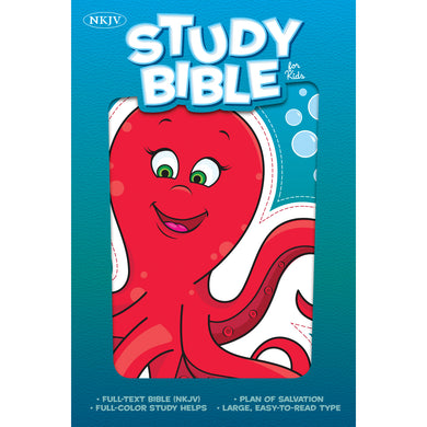 NKJV Illustrated Study Bible For Kids Octopus (Imitation Leather)