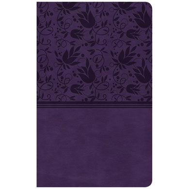 CSB Ultrathin Reference Bible Purple (Imitation Leather)