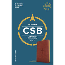 Load image into Gallery viewer, CSB Ultrathin Reference Bible Brown (Imitation Leather)