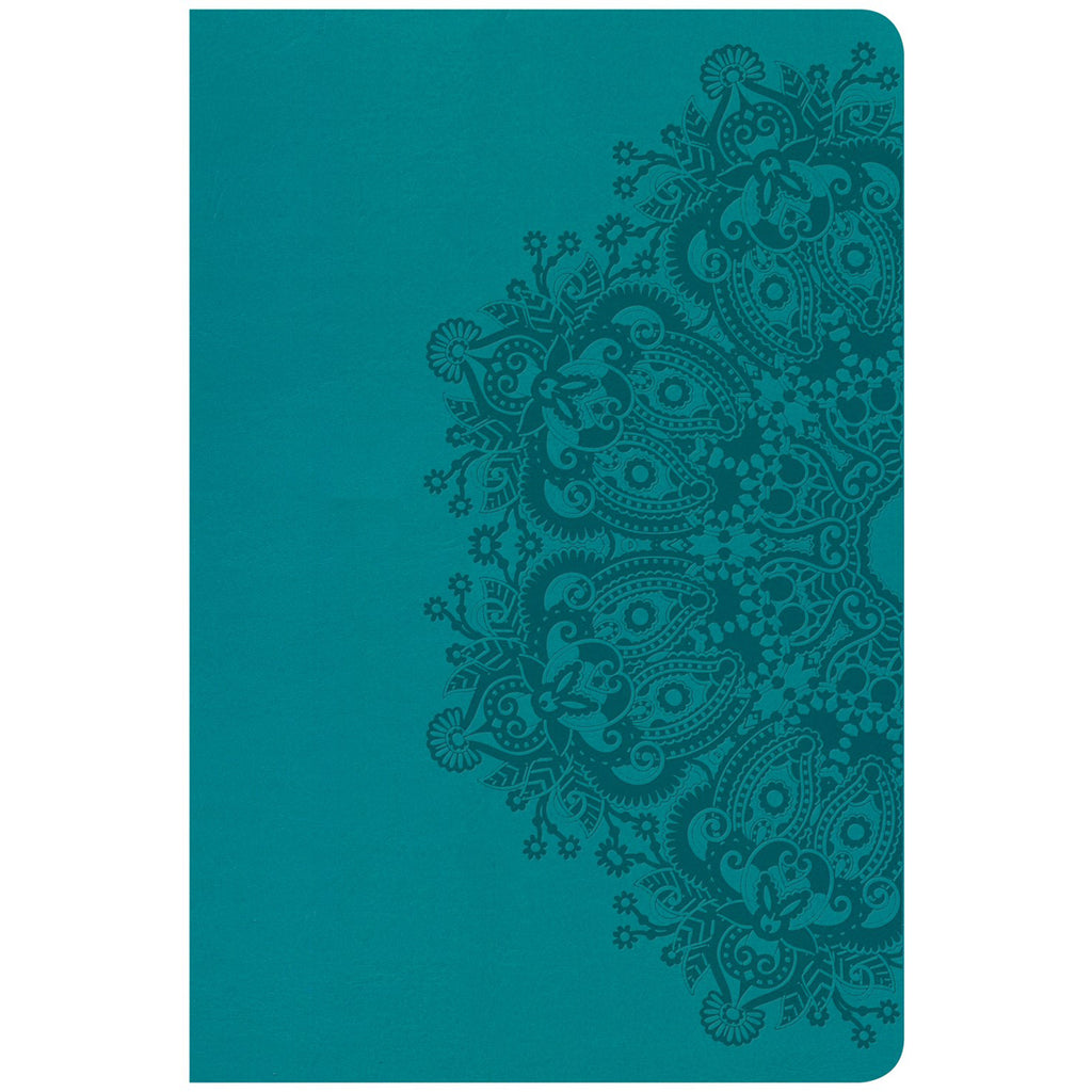 CSB Personal Size Reference Bible Large Print Indexed Teal (Imitation Leather)
