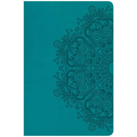 Load image into Gallery viewer, CSB Personal Size Reference Bible Large Print Indexed Teal (Imitation Leather)