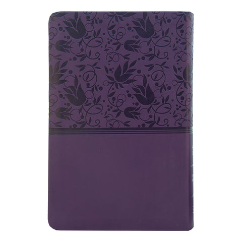 Load image into Gallery viewer, CSB Personal Size Reference Bible Large Print Purple (Imitation Leather)