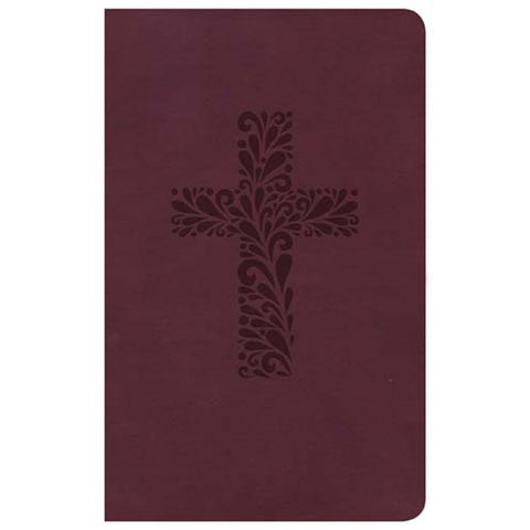 CSB Pocket Gift Bible Burgundy (Imitation Leather)