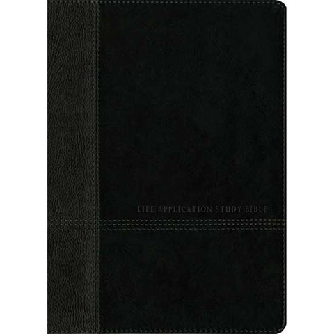 NIV Life Application Study Bible 2nd Edition Red Letter Indexed Black / Onyx (Imitation Leather)