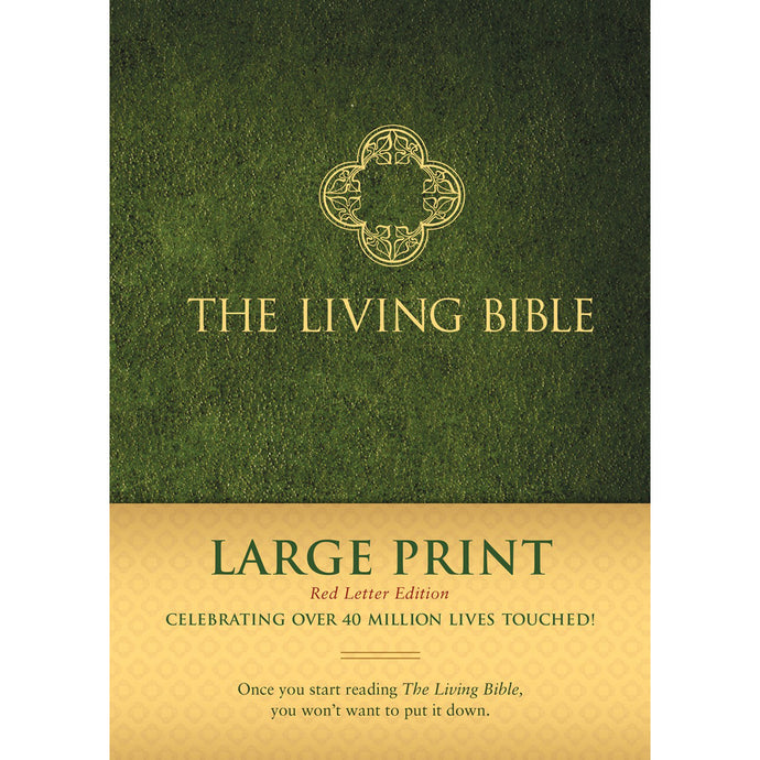 Living Bible Large Print Red Letter Edition (Hardcover)