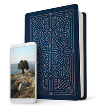 Load image into Gallery viewer, NLT Filament Bible Indexed Navy / Rose Gold: The Print+Digital Bible (Imitation Leather)