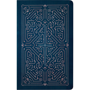 NLT Filament Bible Indexed Navy / Rose Gold: The Print+Digital Bible (Imitation Leather)