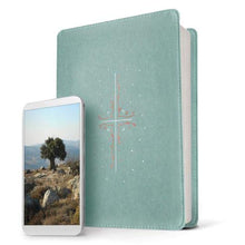 Load image into Gallery viewer, NLT Filament Bible Indexed Eucalyptus / Copper: The Print+Digital Bible (Imitation Leather)