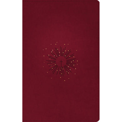 NLT Filament Thinline Reference Bible Red Letter Aurora Cranberry (Imitation Leather)