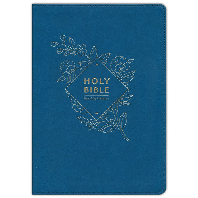 NLT Holy Bible Giant Print Indexed Red Letter Blue (Imitation Leather)