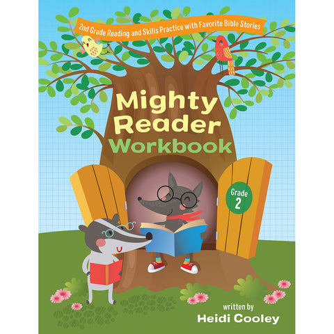 Mighty Reader Workbook: 2nd Grade Reading And Skills Practice With Favorite Bible Stories(Paperback)