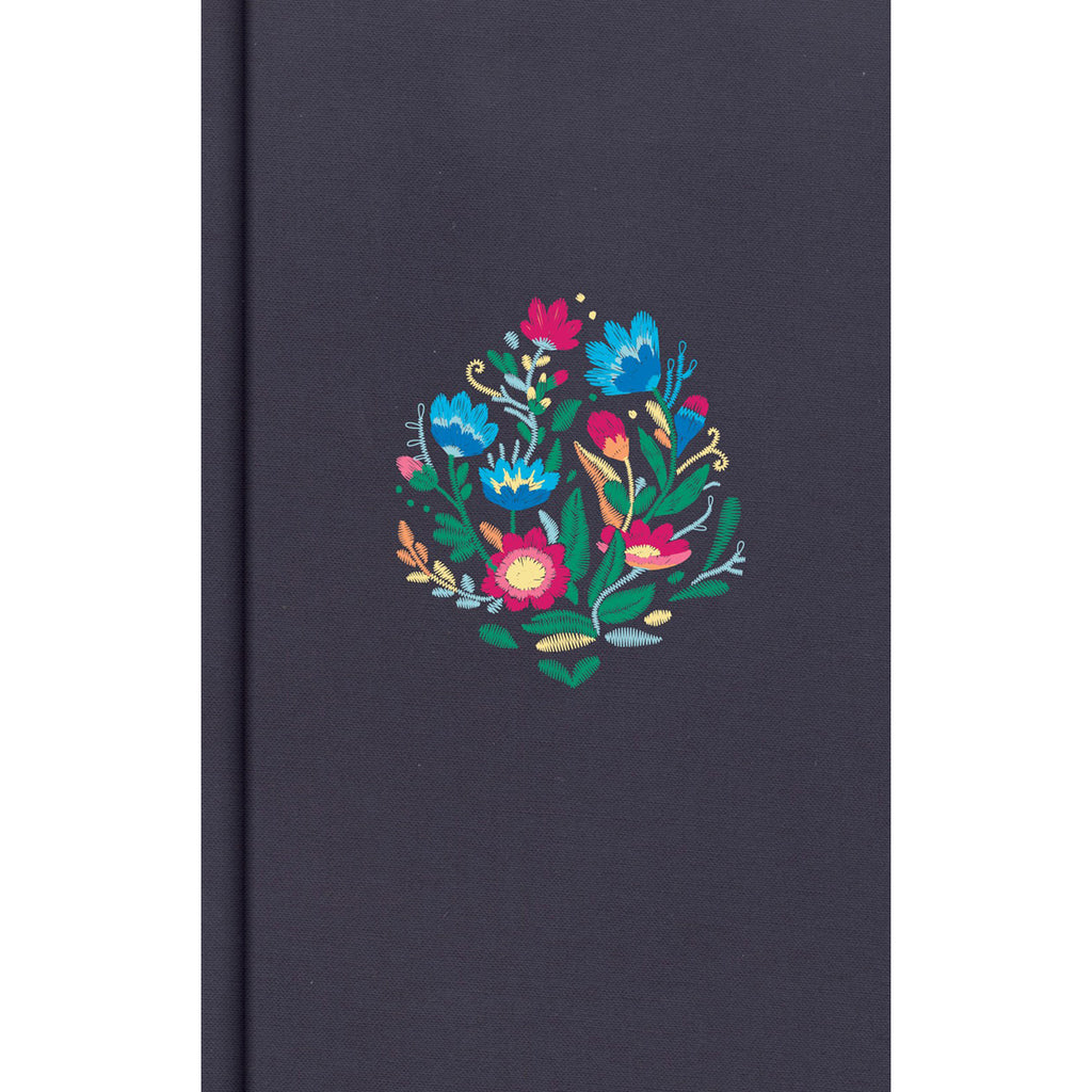 CSB Personal Size Bible Floral Embroidered Cloth Over Board Navy (Hardcover)
