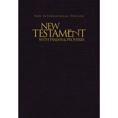 NIV New Testament With Psalms & Proverbs Pocket Sized Black (Paperback)