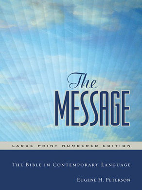 The Message Large Print Numbered Edition Large Print (Hardcover)