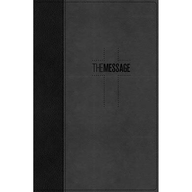 The Message Deluxe Gift Bible Black / Slate (LuxLeather)