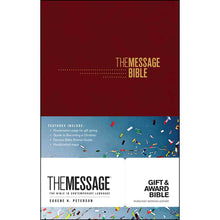 Load image into Gallery viewer, The Message Gift & Award Bible Burgandy (Imitation Leather)