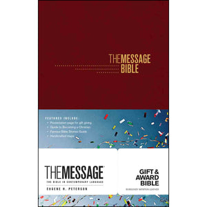 The Message Gift & Award Bible Burgandy (Imitation Leather)