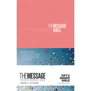 The Message Gift & Award Bible Pink (Imitation Leather)