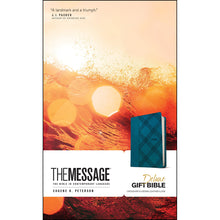 Load image into Gallery viewer, The Message Deluxe Gift Bible Turquoise (Imitation Leather)