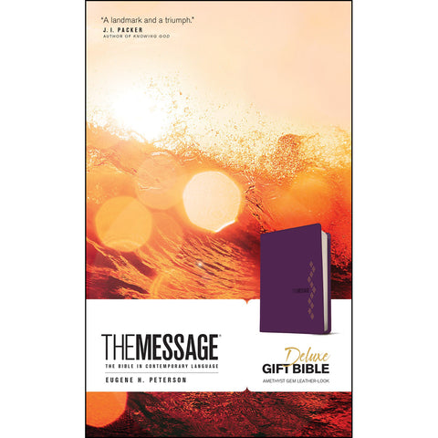 The Message Deluxe Gift Bible Purple (Imitation Leather)