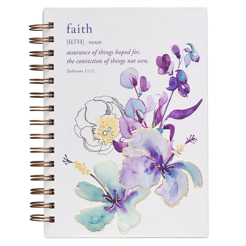 Load image into Gallery viewer, Hebrews 11:1 Faith (Large Hardcover Wirebound Journal)
