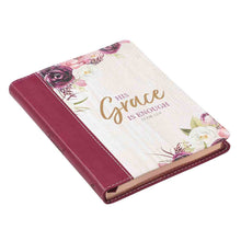 Load image into Gallery viewer, 2 Corinthians 12:9 His Grace Is Enough (Handy-Sized Faux Leather Journal)
