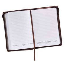 Load image into Gallery viewer, John 3:16 Cross Zippered Two-Tone Brown (LuxLeather Journal)